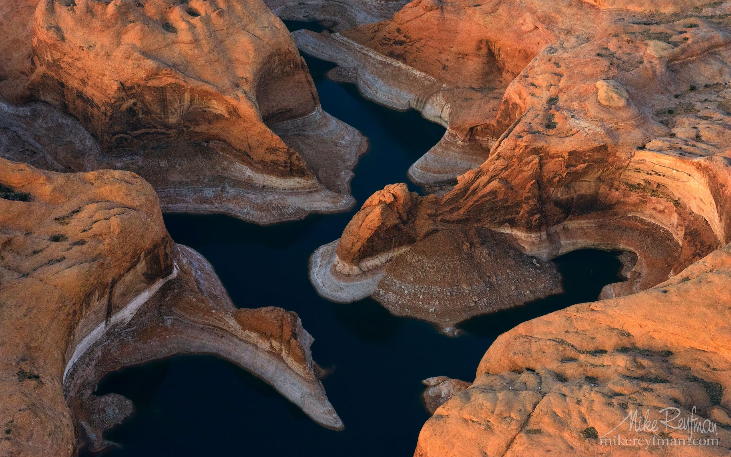 Reflection Canyon. Colorado River, Lake Powell, Glen Canyon NRA. Uta/Arizona, USA. Aerial 106-LP3_D8C9555.jpg - Lake Powell, Glen Canyon NAR. Colorado and Sun Juan Rivers. Utah/Arizona, USA  - Mike Reyfman Photography