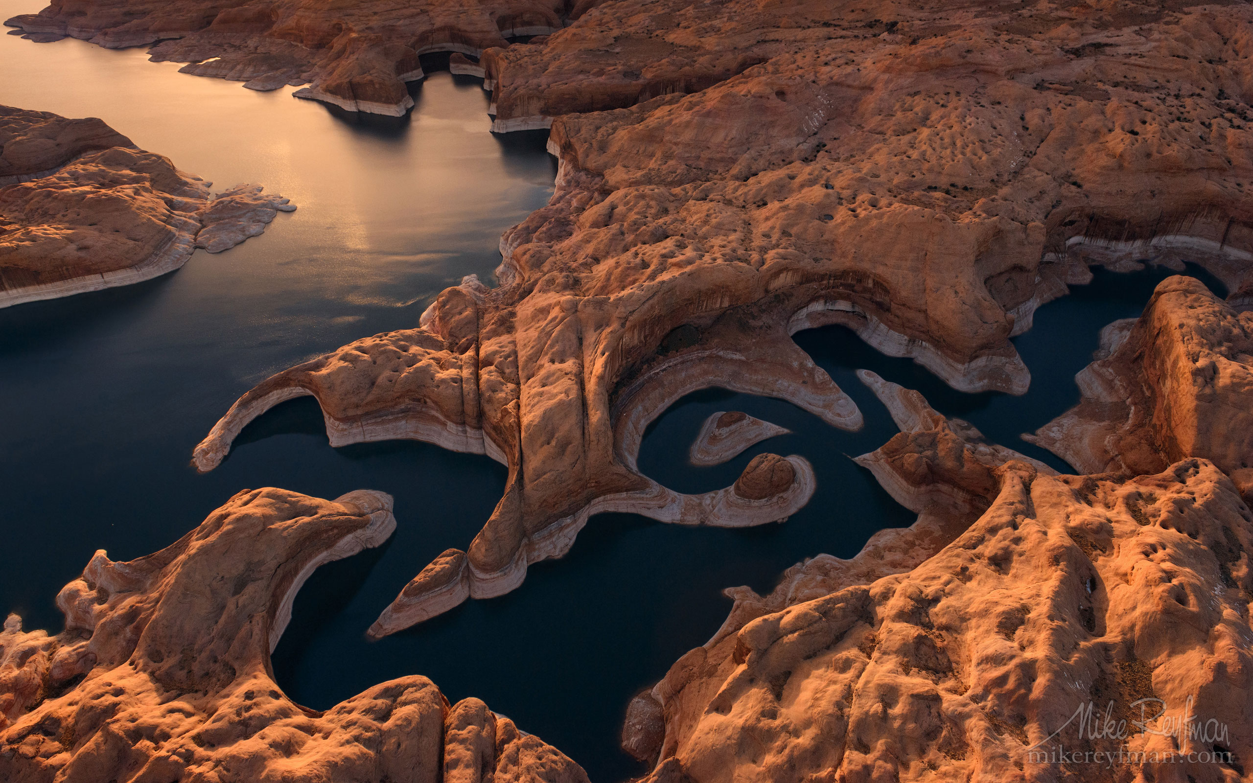 Reflection Canyon. Colorado River, Lake Powell, Glen Canyon NRA. Uta/Arizona, USA. Aerial 108-LP3_D8C9497.jpg - Lake Powell, Glen Canyon NAR. Colorado and Sun Juan Rivers. Utah/Arizona, USA  - Mike Reyfman Photography