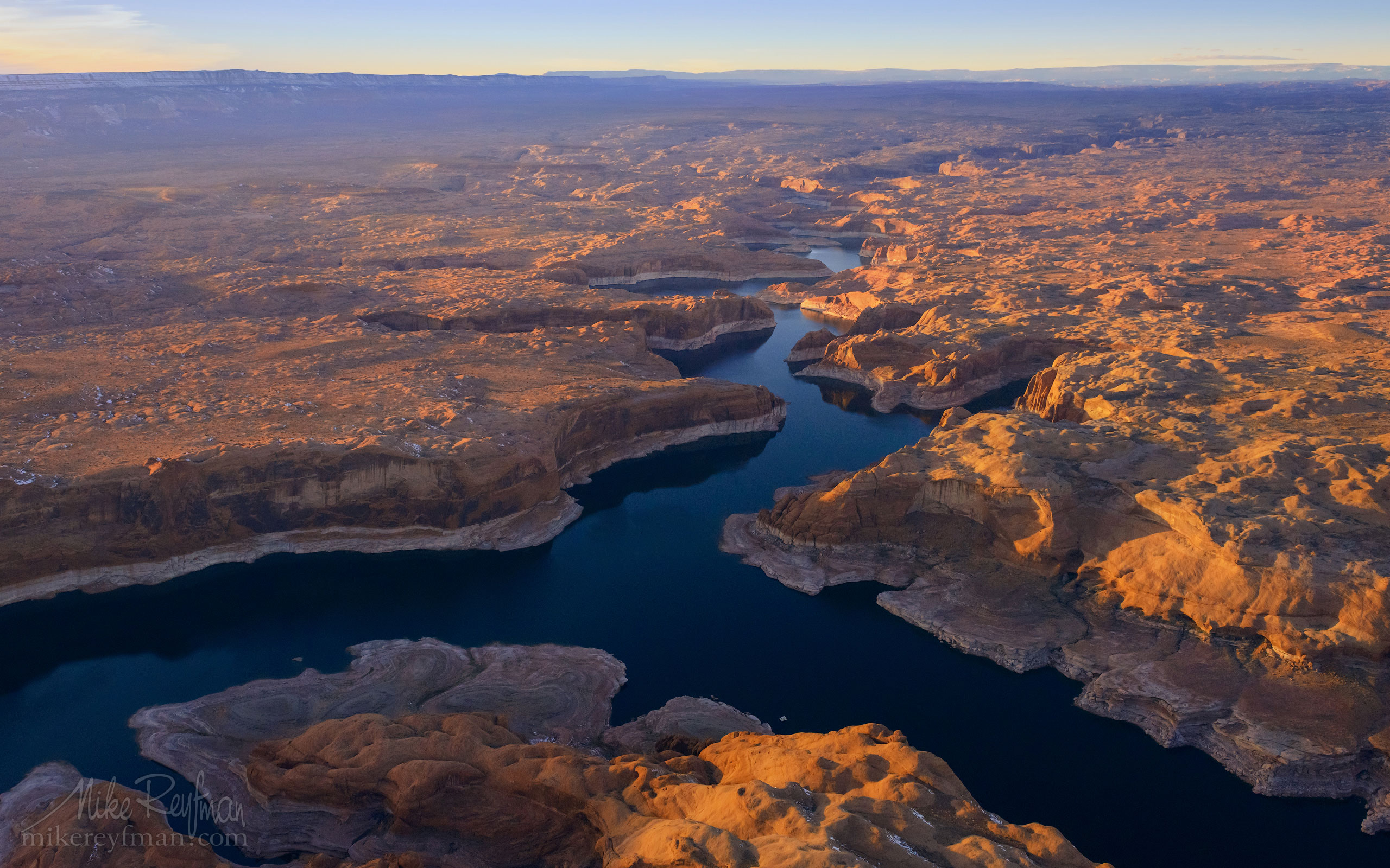 Escalante River Canyon. Lake Powell, Glen Canyon NRA. Uta/Arizona, USA. Aerial. 114-LP3_D8C9575-Escalante-River-Canyon.jpg - Lake Powell, Glen Canyon NAR. Colorado and Sun Juan Rivers. Utah/Arizona, USA  - Mike Reyfman Photography