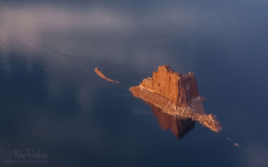 Padre-Butte.-Glen-Canyon-NRA,-Lake-Powell,-Utah/Arizona,-USA.-Aerial