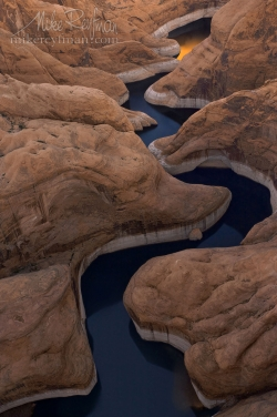 The-Canyon.-Glen-Canyon-NRA,-Lake-Powell,-Utah/Arizona,-USA.-Aerial.