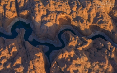 087-LP3_D8C9475.jpg Anasazi Canyon Abstracts. Anasazi Canyon, Lake Powell, Glen Canyon NRA, Utah/Arizona, US. Aerial.