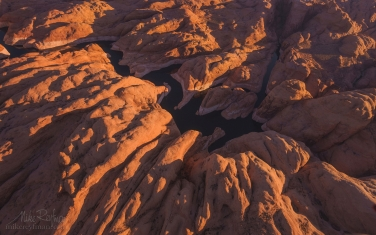 Anasazi-Canyon-Abstracts.-Anasazi-Canyon,-Lake-Powell,-Glen-Canyon-NRA,-Utah/Arizona,-US.-Aerial.