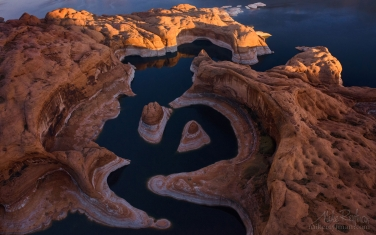 Reflection-Canyon.-Colorado-River,-Lake-Powell,-Glen-Canyon-NRA.-Uta/Arizona,-USA.-Aerial