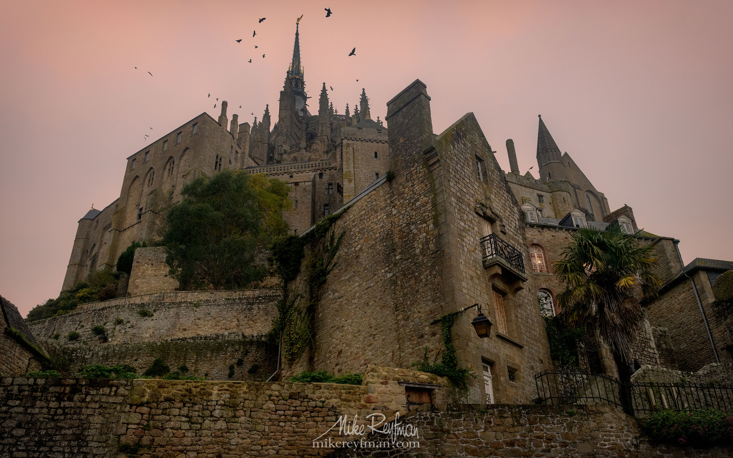 Le Mont-Saint-Michel Island and Benedictine Abbey. Normandy, France SM_MR50A097 - Le Mont Saint Michel Island and Benedictine Abbey, Normandy, France - Mike Reyfman Photography