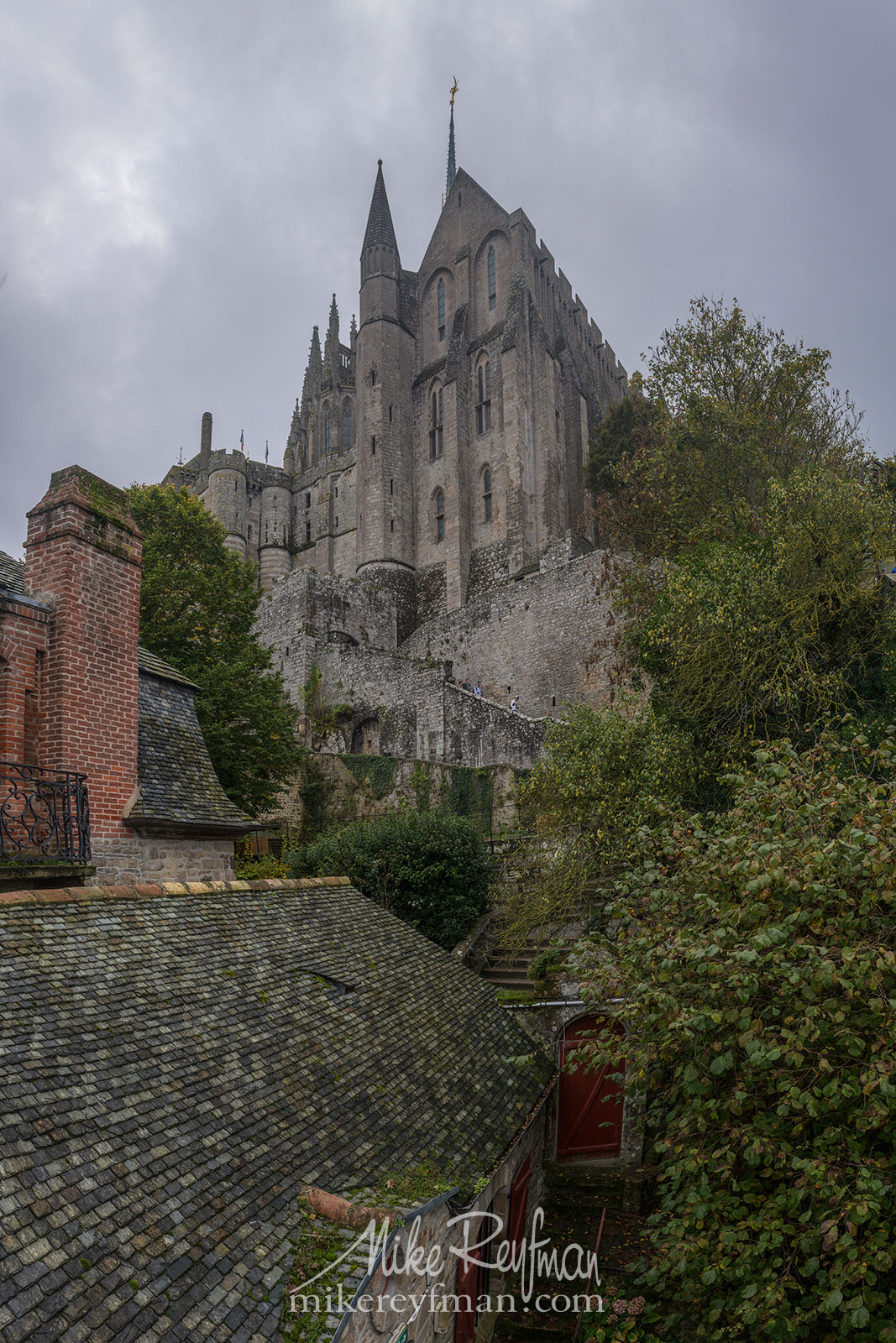 Le Mont-Saint-Michel Island and Benedictine Abbey. Normandy, France SM_MR50A1004-VerticalPano - Le Mont Saint Michel Island and Benedictine Abbey, Normandy, France - Mike Reyfman Photography