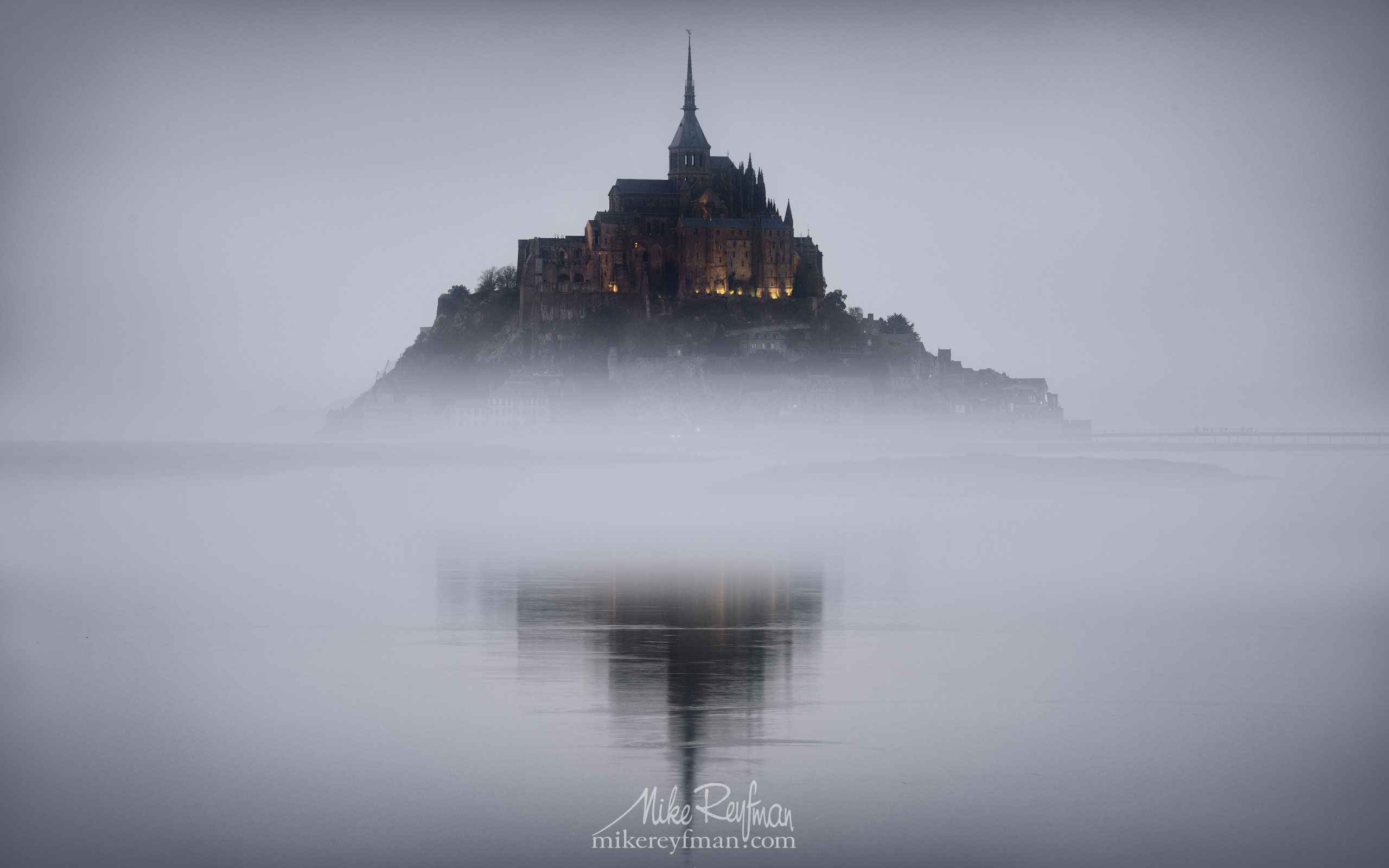 Le Mont-Saint-Michel Island and Benedictine Abbey. Normandy, France SM_MR50A1073 - Le Mont Saint Michel Island and Benedictine Abbey, Normandy, France - Mike Reyfman Photography