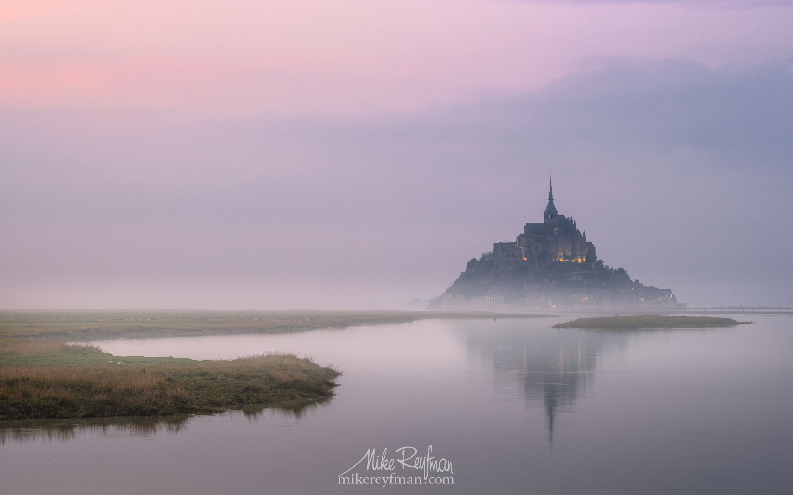 Le Mont-Saint-Michel Island and Benedictine Abbey. Normandy, France SM_MR50A1074 - Le Mont Saint Michel Island and Benedictine Abbey, Normandy, France - Mike Reyfman Photography