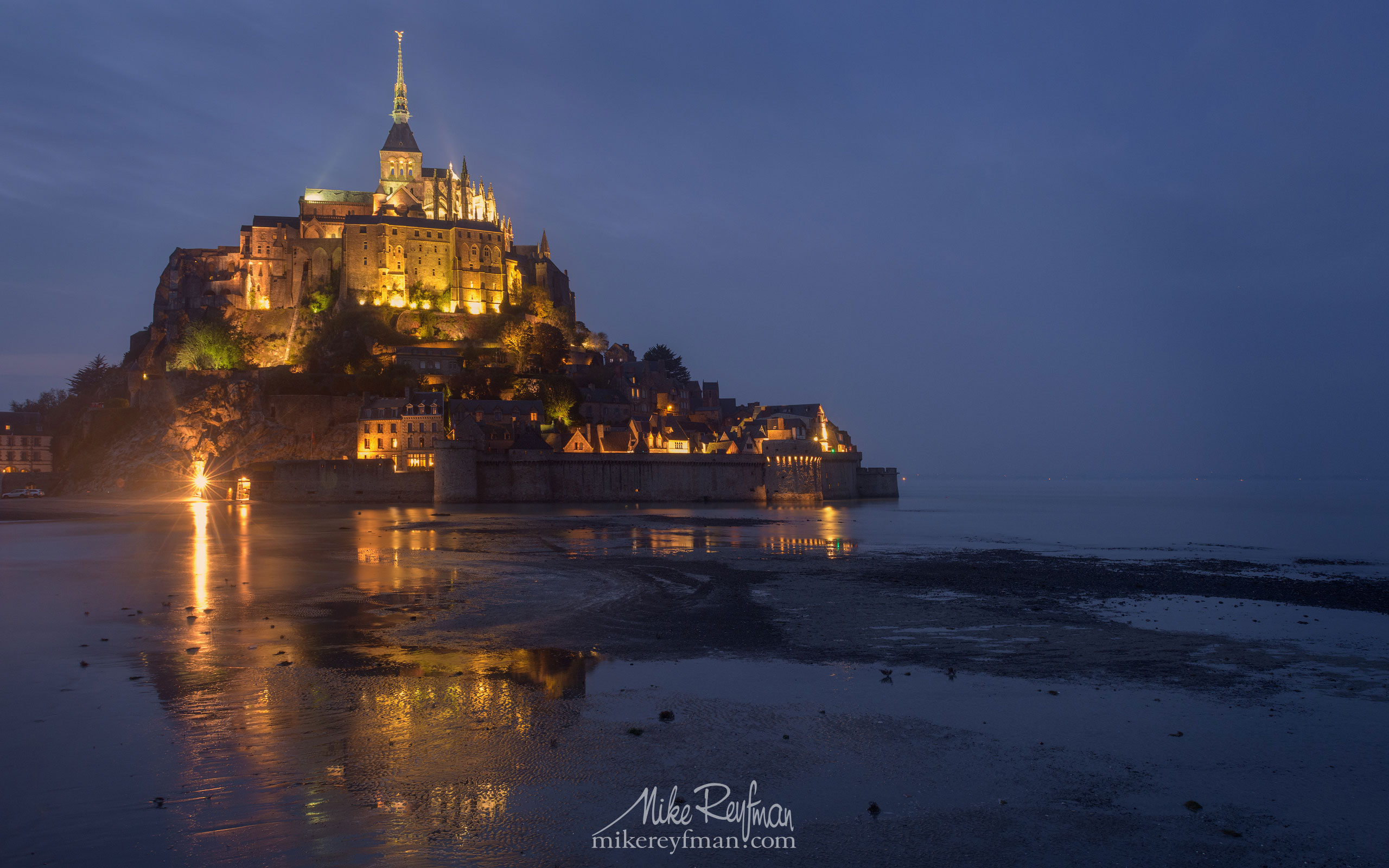 Le Mont-Saint-Michel Island and Benedictine Abbey. Normandy, France SM_MR50A1083 - Le Mont Saint Michel Island and Benedictine Abbey, Normandy, France - Mike Reyfman Photography