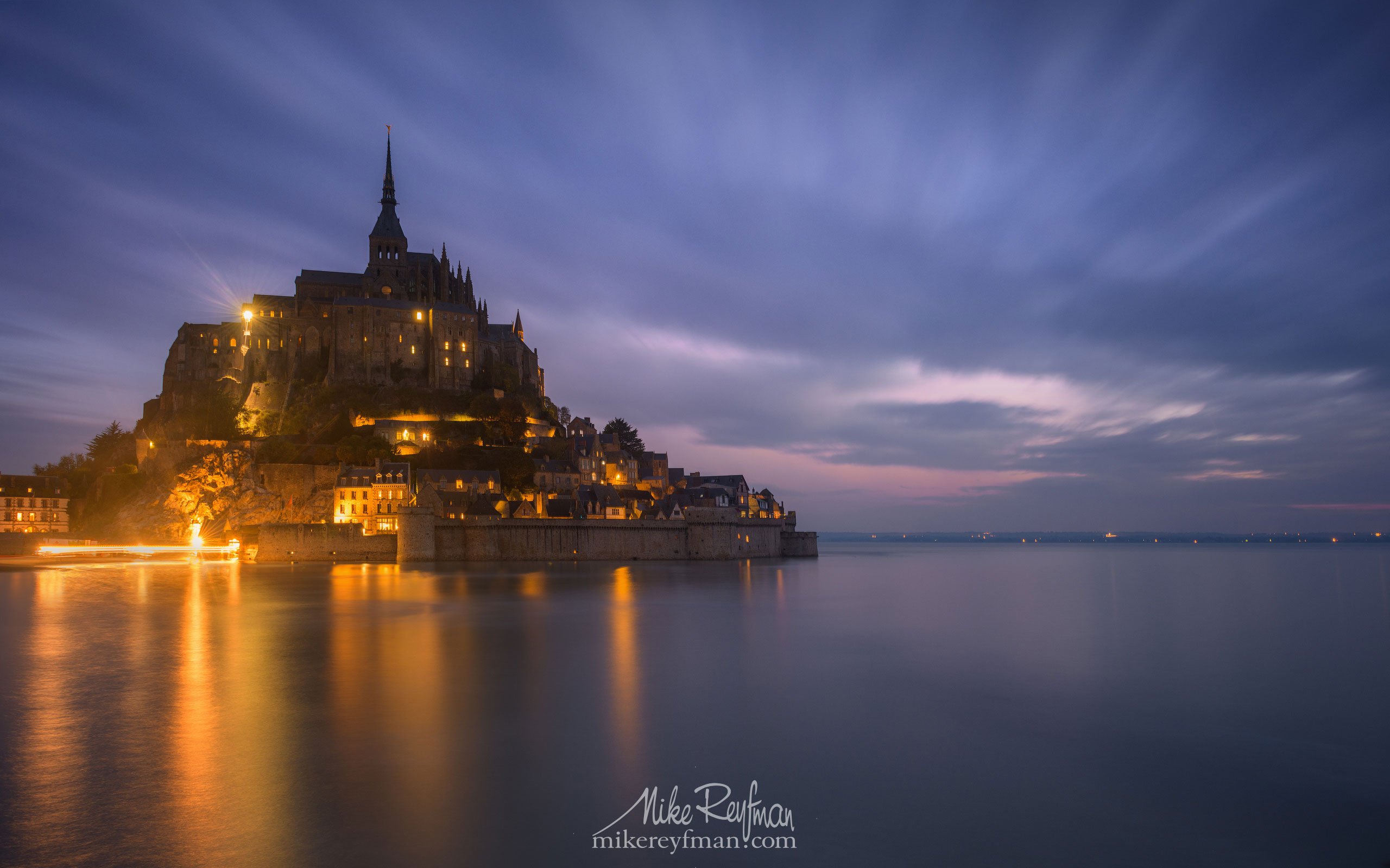 Le Mont-Saint-Michel Island and Benedictine Abbey. Normandy, France SM_MR50A1099 - Le Mont Saint Michel Island and Benedictine Abbey, Normandy, France - Mike Reyfman Photography