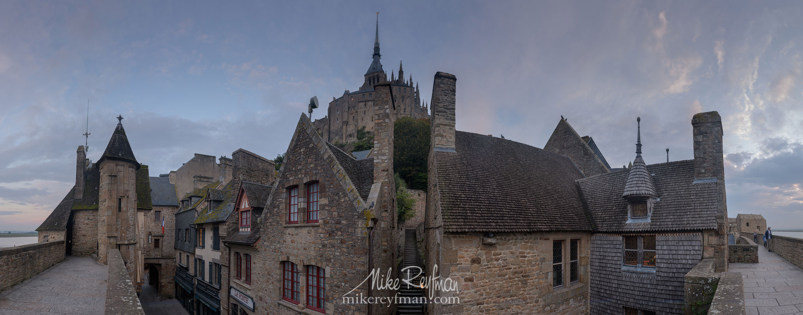 Le Mont-Saint-Michel Island and Benedictine Abbey. Normandy, France SM_MR50A1142-Pano_2x1 - Le Mont Saint Michel Island and Benedictine Abbey, Normandy, France - Mike Reyfman Photography