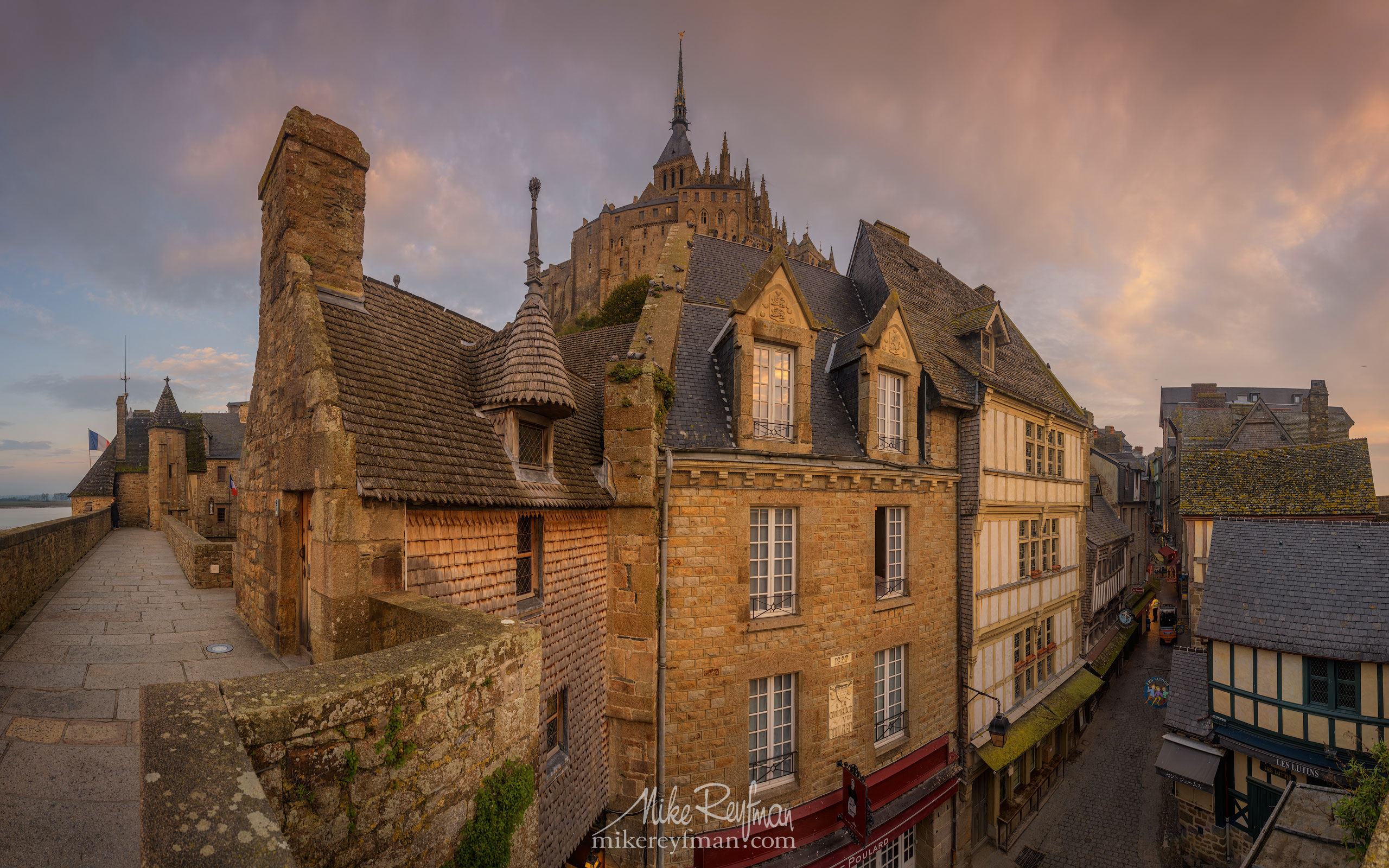 Le Mont-Saint-Michel Island and Benedictine Abbey. Normandy, France SM_MR50A1186-Pano-3x2 - Le Mont Saint Michel Island and Benedictine Abbey, Normandy, France - Mike Reyfman Photography