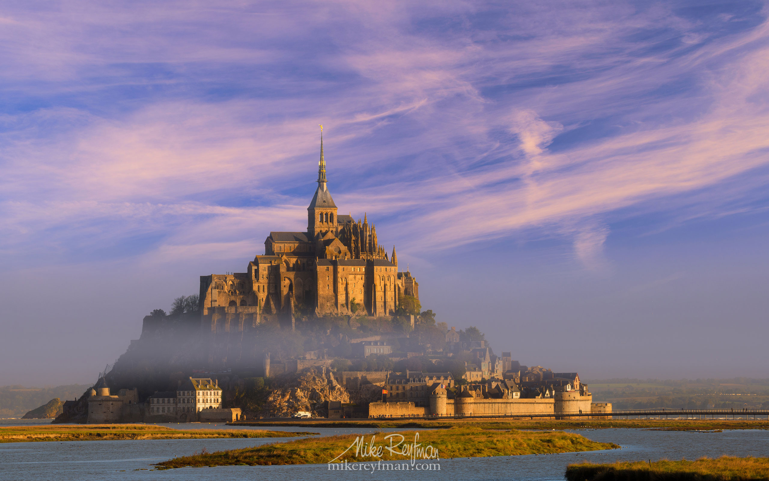 Le Mont-Saint-Michel Island and Benedictine Abbey. Normandy, France SM_MR50A1635 - Le Mont Saint Michel Island and Benedictine Abbey, Normandy, France - Mike Reyfman Photography