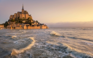 Le Mont Saint Michel Island and Benedictine Abbey, Normandy, France - Landscape, Nature and Cityscape Photography - Mike Reyfman Photography - Fine Art Prints, Stock Images, Nature Abstracts