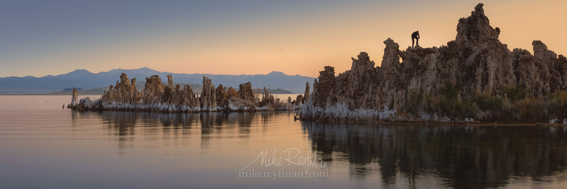 Mono Lake, Tufa State Natural Reserve, Eastern Sierra, California, USA ML1-MRMRO6402-04-Pano - Mono Lake Tufa State Natural Reserve, Eastern Sierra, California - Mike Reyfman Photography