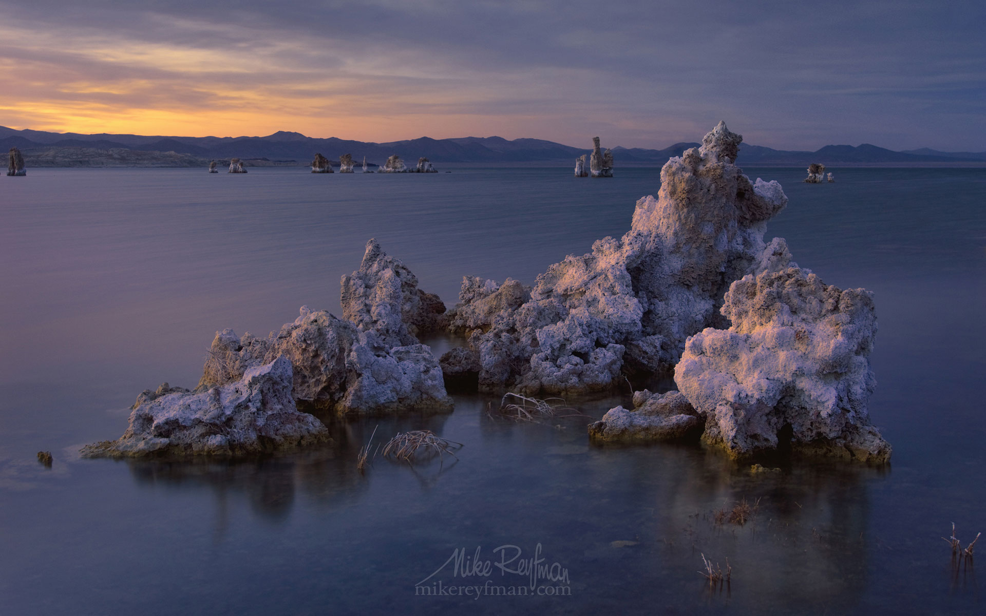 Mono Lake, Tufa State Natural Reserve, Eastern Sierra, California, USA ML1-MRMRO6624 - Mono Lake Tufa State Natural Reserve, Eastern Sierra, California - Mike Reyfman Photography