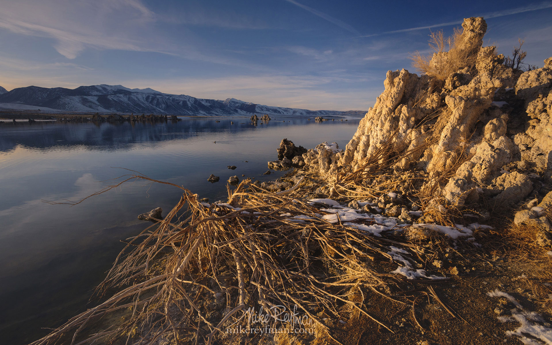 Mono Lake, Tufa State Natural Reserve, Eastern Sierra, California, USA ML1-MRN3X0639 - Mono Lake Tufa State Natural Reserve, Eastern Sierra, California - Mike Reyfman Photography