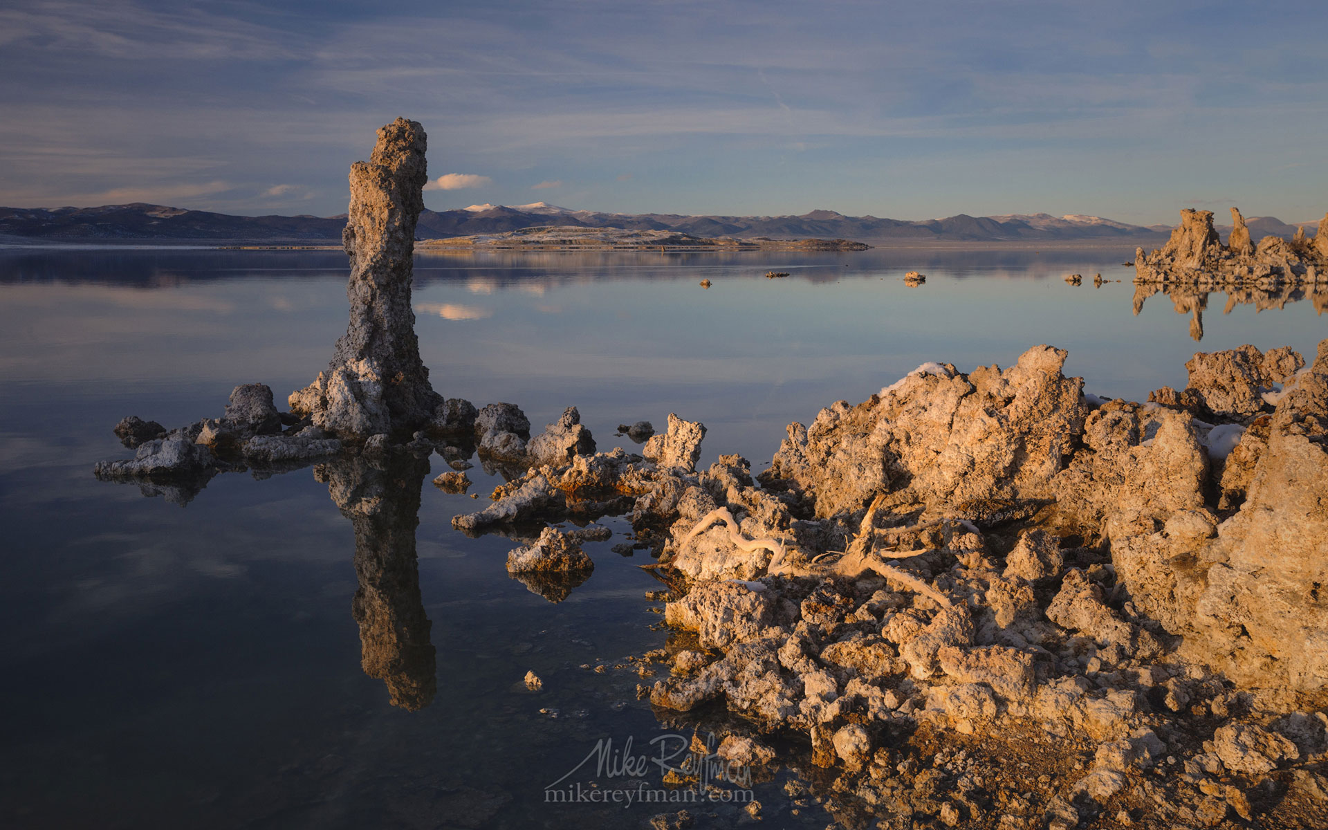 Mono Lake, Tufa State Natural Reserve, Eastern Sierra, California, USA ML1-MRN3X0643 - Mono Lake Tufa State Natural Reserve, Eastern Sierra, California - Mike Reyfman Photography