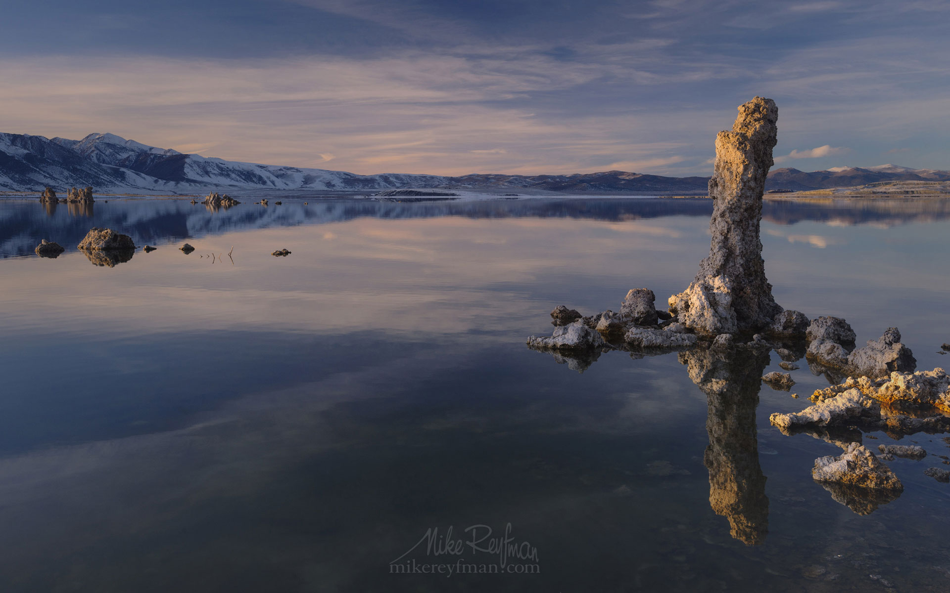 Mono Lake, Tufa State Natural Reserve, Eastern Sierra, California, USA ML1-MRN3X0645 - Mono Lake Tufa State Natural Reserve, Eastern Sierra, California - Mike Reyfman Photography