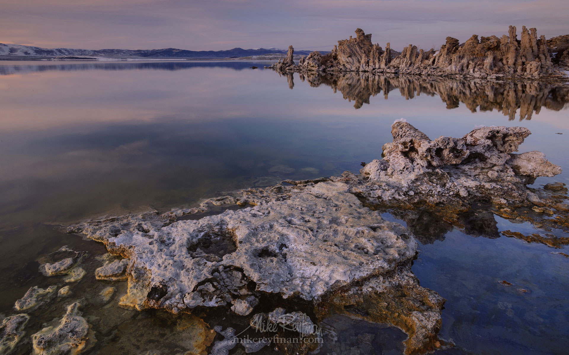 Mono Lake, Tufa State Natural Reserve, Eastern Sierra, California, USA ML1-MRN3X0667 - Mono Lake Tufa State Natural Reserve, Eastern Sierra, California - Mike Reyfman Photography