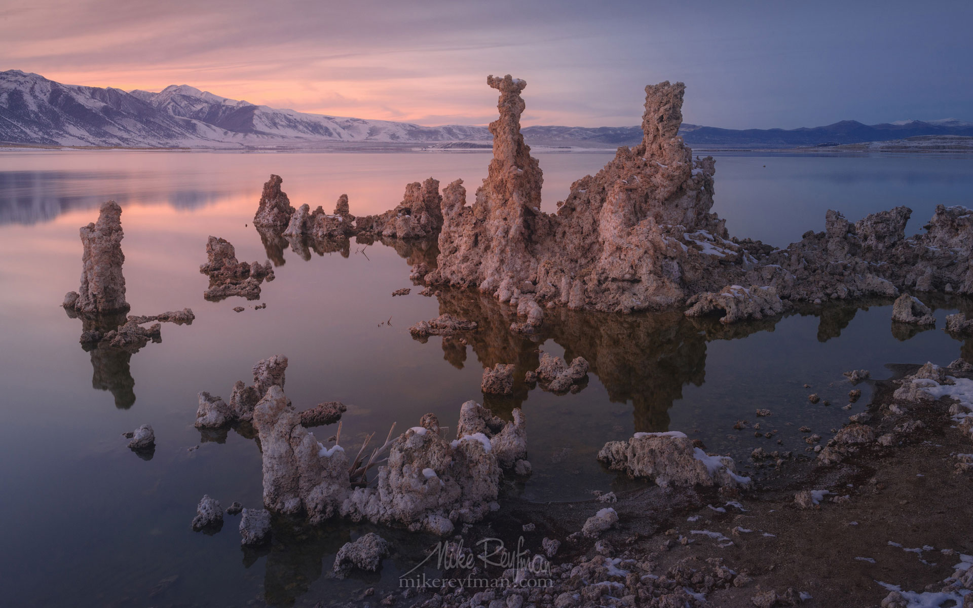 Mono Lake, Tufa State Natural Reserve, Eastern Sierra, California, USA ML1-MRN3X0682 - Mono Lake Tufa State Natural Reserve, Eastern Sierra, California - Mike Reyfman Photography