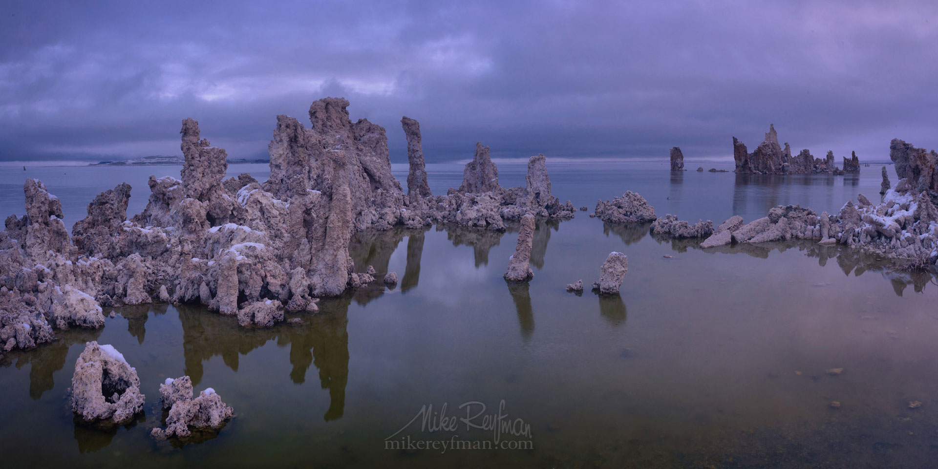 Mono Lake, Tufa State Natural Reserve, Eastern Sierra, California, USA ML1-MRN3X0708-09-Pano - Mono Lake Tufa State Natural Reserve, Eastern Sierra, California - Mike Reyfman Photography