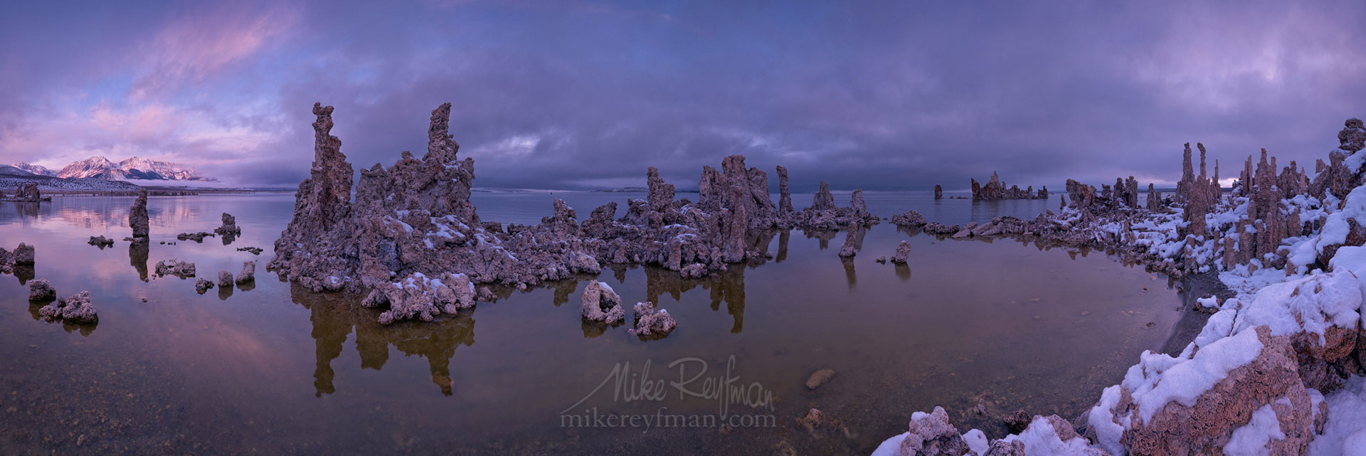 Mono Lake, Tufa State Natural Reserve, Eastern Sierra, California, USA ML1-MRN3X0724-32-Pano - Mono Lake Tufa State Natural Reserve, Eastern Sierra, California - Mike Reyfman Photography