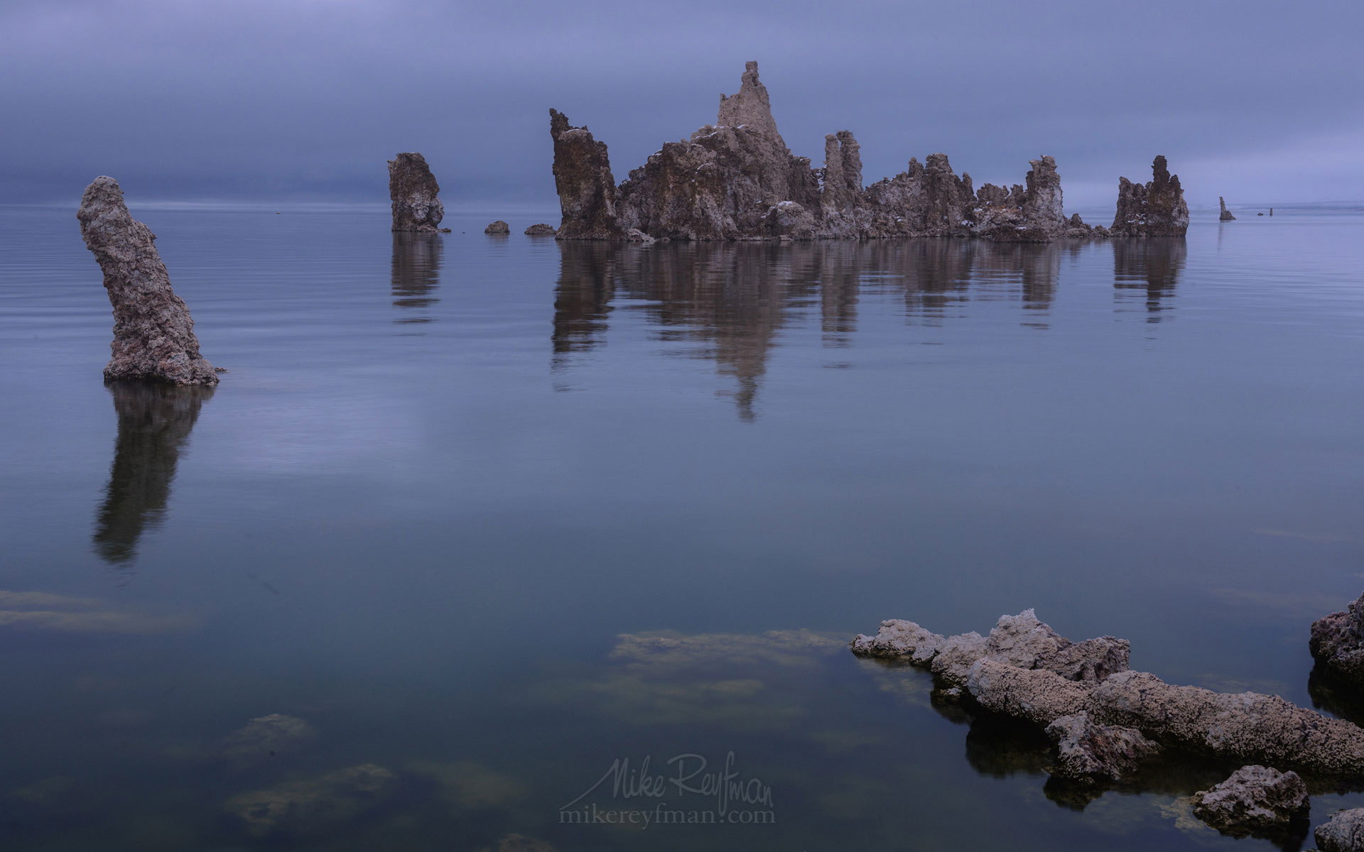 Mono Lake, Tufa State Natural Reserve, Eastern Sierra, California, USA ML1-MRN3X0740 - Mono Lake Tufa State Natural Reserve, Eastern Sierra, California - Mike Reyfman Photography
