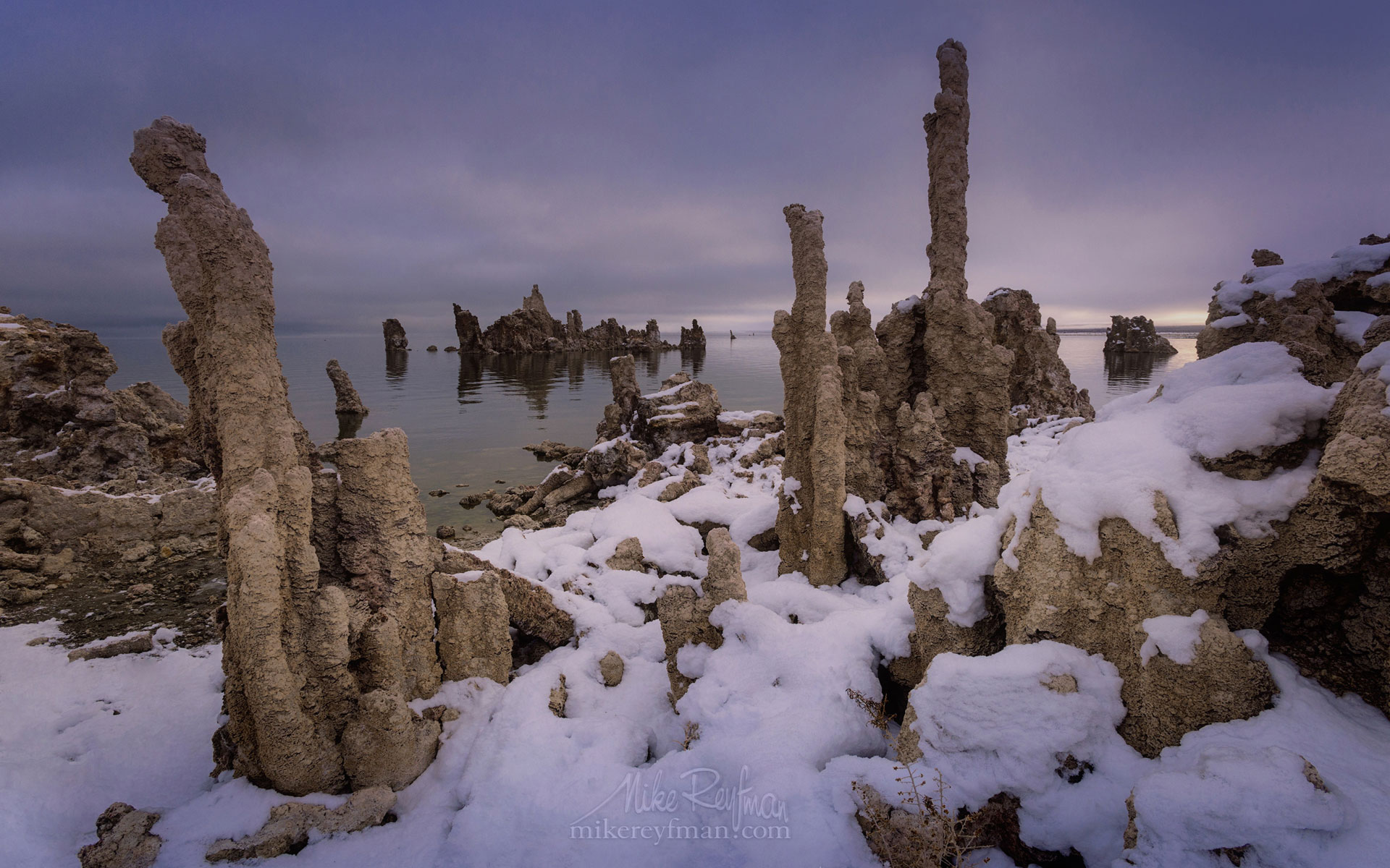 Mono Lake, Tufa State Natural Reserve, Eastern Sierra, California, USA ML1-MRN3X0755 - Mono Lake Tufa State Natural Reserve, Eastern Sierra, California - Mike Reyfman Photography