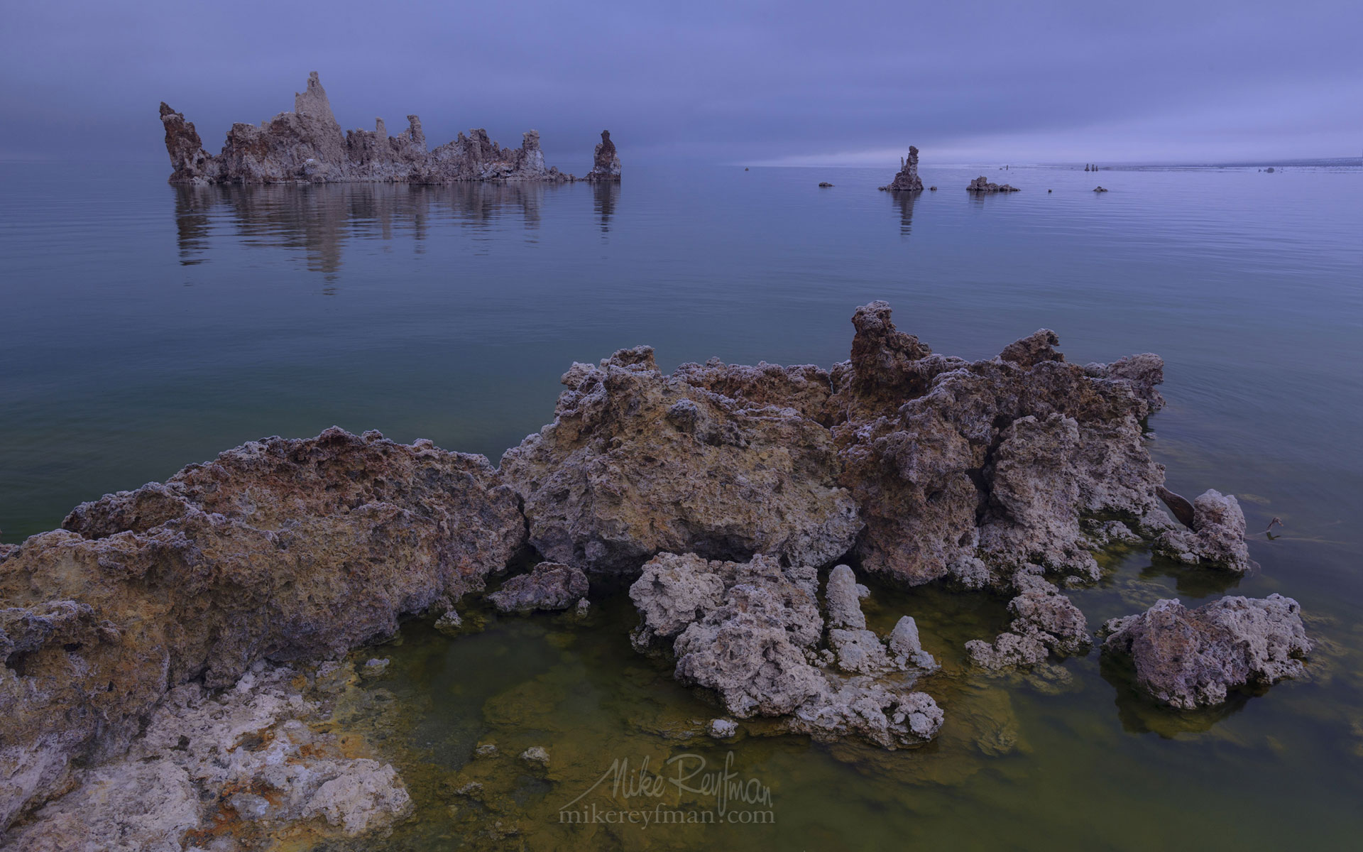 Mono Lake, Tufa State Natural Reserve, Eastern Sierra, California, USA ML1-MRN3X0788 - Mono Lake Tufa State Natural Reserve, Eastern Sierra, California - Mike Reyfman Photography