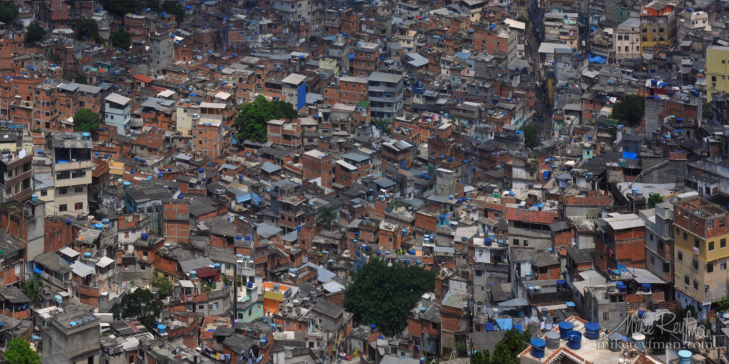 City of God. Favela Rocinha, Rio de Janeiro, Brazil. P12-MRM3X2530-44-Pano - Selected panoramic images with 2:1 aspect ratio - Mike Reyfman Photography