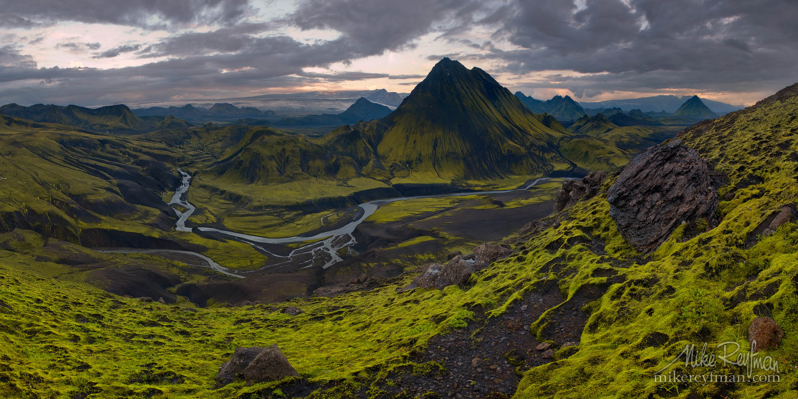 Mt. Storasula, Southern Fjallabak, Iceland P12-MRO3X2951 - Selected panoramic images with 2:1 aspect ratio - Mike Reyfman Photography
