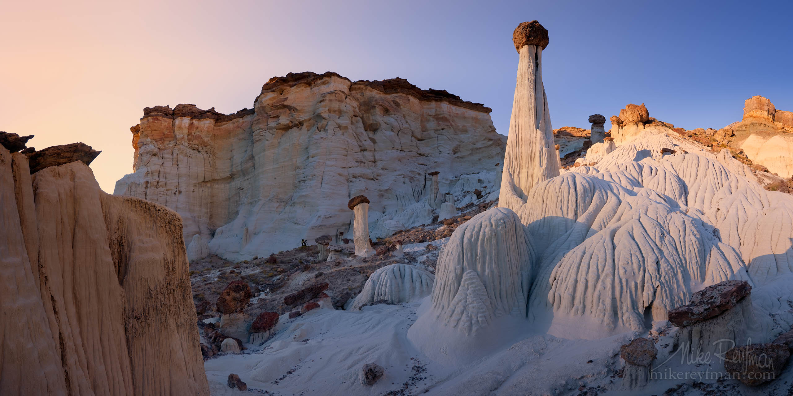 Towers of Silence. Wahweap Hoodoos, Grand Staircase-Escalante, National Monument, Utah P12-MRO3X5821-27-Pano - Selected panoramic images with 2:1 aspect ratio - Mike Reyfman Photography