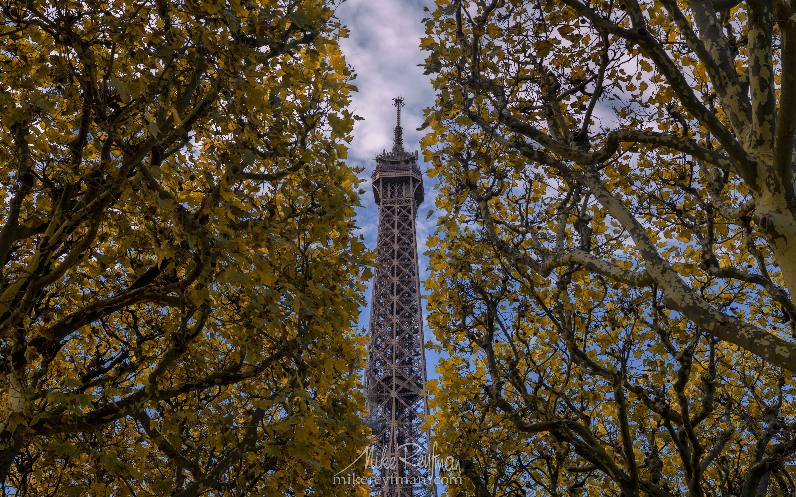 The Eiffel Tower. Champ de Mars, Paris, France FR1-MR50A1712 - Symmetries and Beyond. Random photos. France. - Mike Reyfman Photography