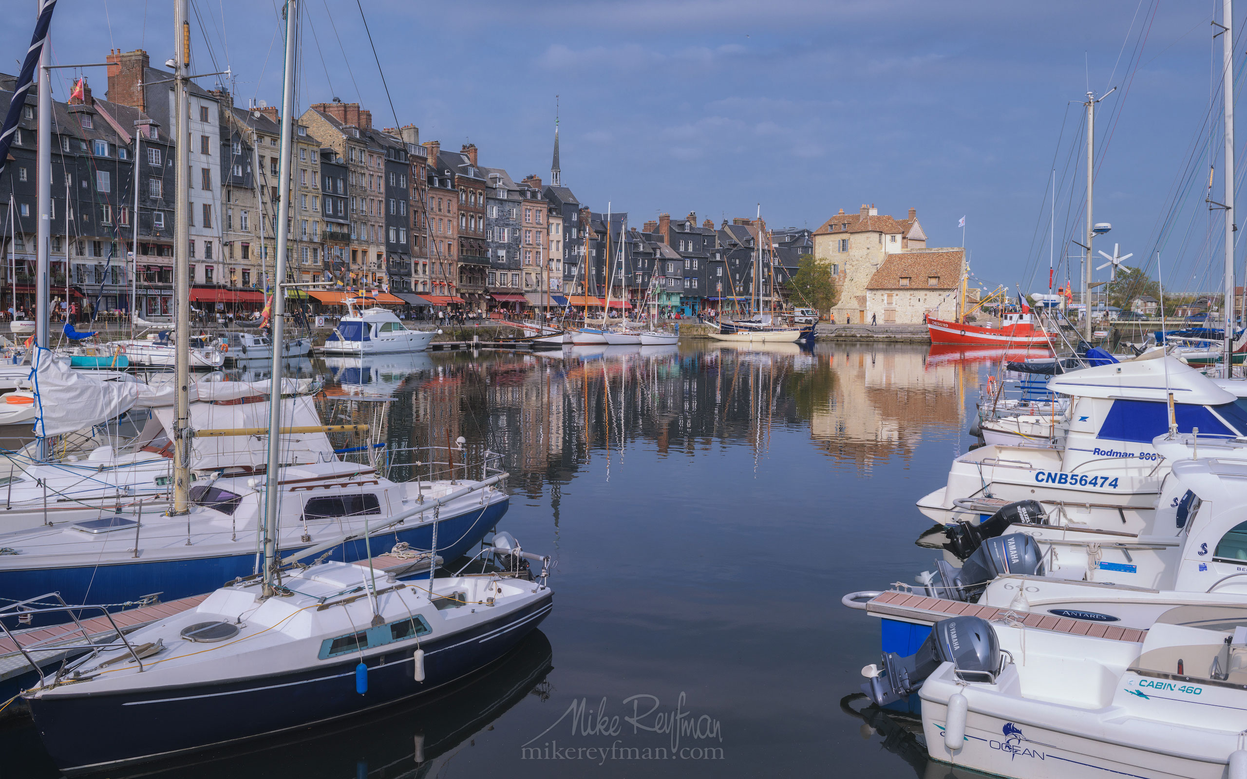 The Vieux-Bassin (old harbor). Honfleur, Calvados, Normandy, France. FR1-MR50A0631 - Symmetries and Beyond. Random photos. France. - Mike Reyfman Photography
